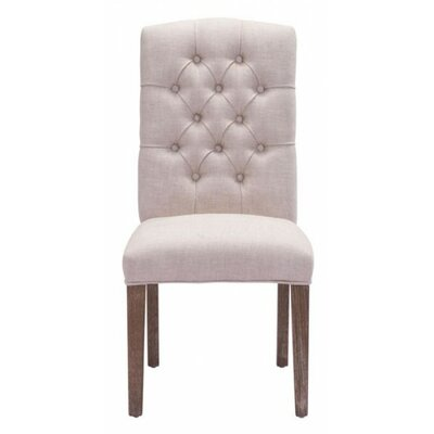 Virgile Gough Side Chair Color: Beige
