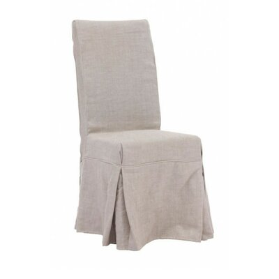 Pontmain Dog Patch Linen Slipcovered Side Chair Upholstery: Beige