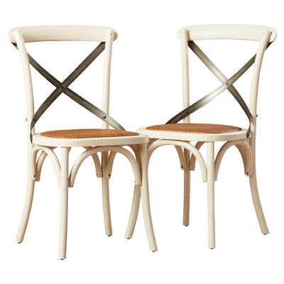 Argyle Solid Wood Dining Chair Finish: Ivory