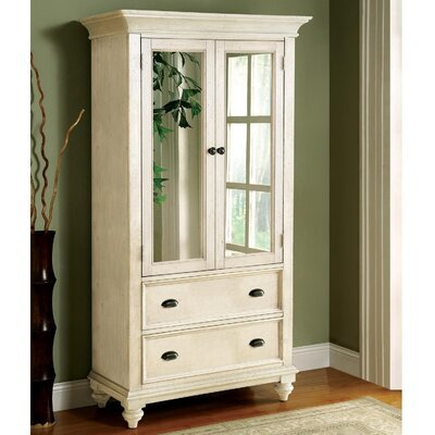 Quevillon TV-Armoire Finish: Coventry White