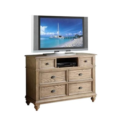Quevillon 6 Drawer Wood Media Chest