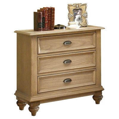 Quevillon 3 Drawer Wood Bachelor's Chest