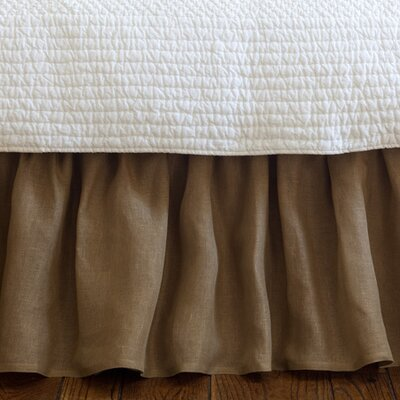 Cherry 350 Thread Count Linen Voile Bed Skirt Size: Twin, Color: Tobacco