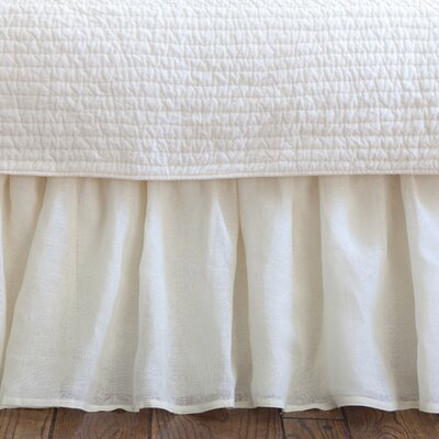 Cherry 350 Thread Count Linen Voile Bed Skirt Size: Twin, Color: Cream