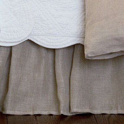 Cherry 350 Thread Count Linen Voile Bed Skirt Size: Full, Color: Natural