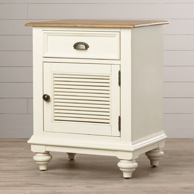 Quevillon 1 Drawer Wood Nightstand