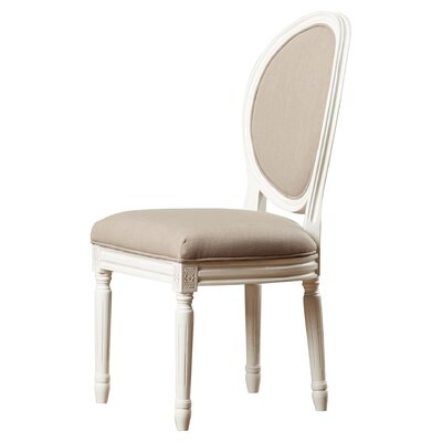 Leta Side Chair Finish: Taupe/Cream