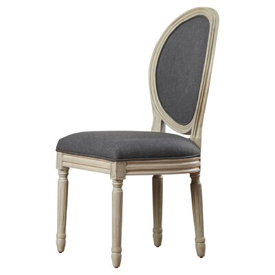 Leta Side Chair Finish: Charcoal/Rustic Gray