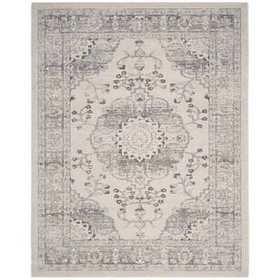 Mills Beige/Blue Area Rug Rug Size: Rectangle 4 x 6
