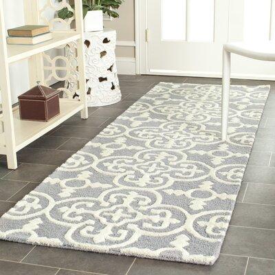 Nicholls Gray Hand-Woven Wool Area Rug Rug Size: Runner 26 x 8