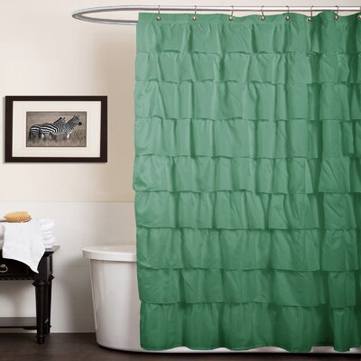 Enigma Shower Curtain Color: Green