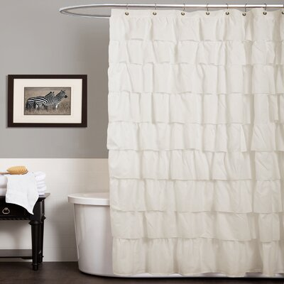 Enigma Shower Curtain Color: Ivory