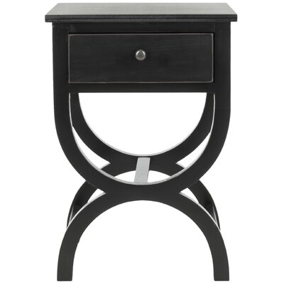 Laverriere End Table with Storage� Color: Black