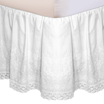 Morissette Embroidered Bed Skirt Size: California King