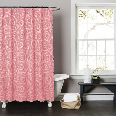Lannion Shower Curtain Color: Pink