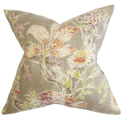 Ilana Floral Throw Pillow Color: Red Jade, Size: 20 x 20