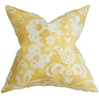 Plainville Floral Throw Pillow Color: Yellow, Size: 20