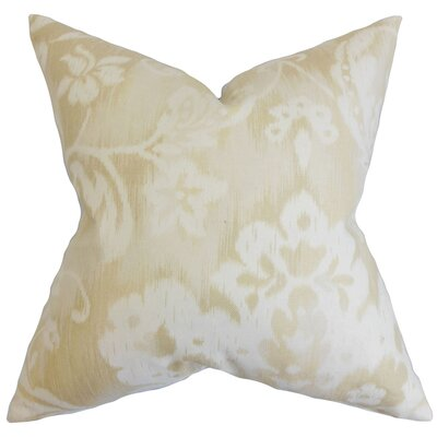 Plainville Floral Throw Pillow Color: Natural, Size: 18x18