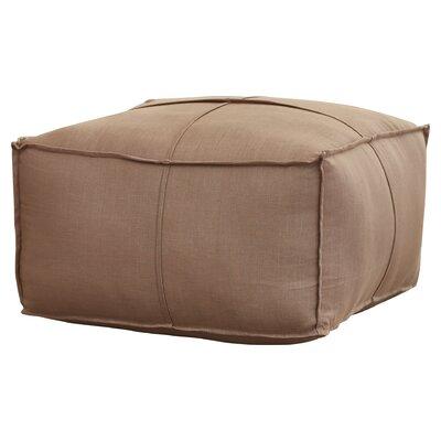 Vozelle Linen Pouf Ottoman Upholstery: Dark Khaki