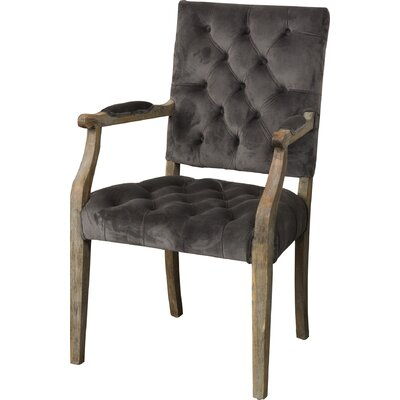 Dubay Arm Chair Upholstery: Charcoal