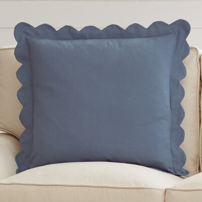 Madeline Pinafore 100% Cotton Throw Pillow Color: Wedgewood Blue