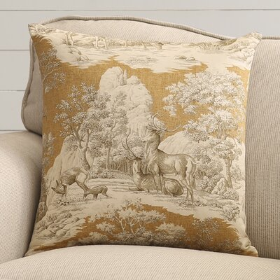 Leora Cotton Toile Throw Pillow Color: Safari Back, Size: 18x18