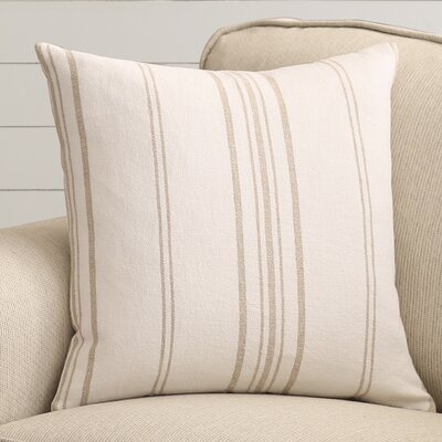 Lilla Linen Throw Pillow Color: Natural