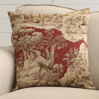 Leora 100% Cotton Throw Pillow Color: Redwood Back, Size: 20 x 20