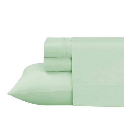Roulier 300 Thread Count Sheet Set Size: Twin, Color: Light Green