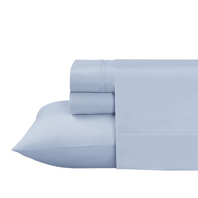 Roulier 300 Thread Count Sheet Set Size: Full, Color: Light Blue