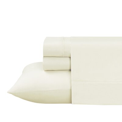 Roulier 300 Thread Count Sheet Set Size: Twin, Color: White