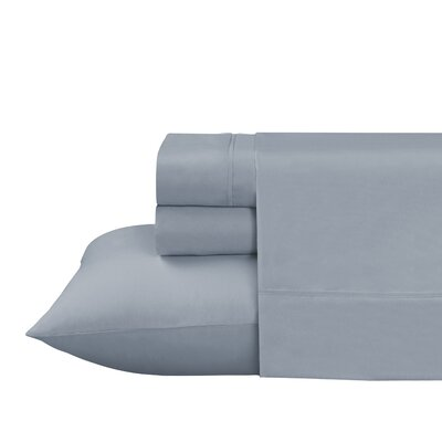 Roulier 300 Thread Count Sheet Set Size: Twin, Color: Dusty Blue