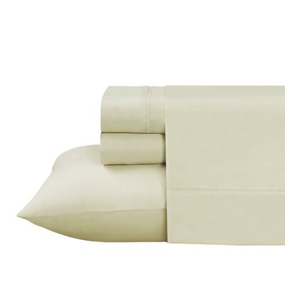 Roulier 300 Thread Count Sheet Set Size: Queen, Color: Ivory