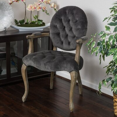 Belclaire Arm Chair Upholstery: Charcoal