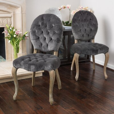 Belclaire Side Chair Upholstery: Charcoal