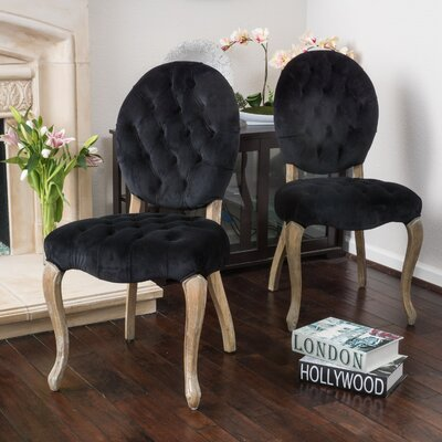 Belclaire Side Chair Upholstery: Black