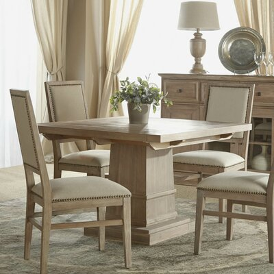 Valentin Extendable Dining Table in Stone Wash