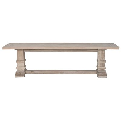 Parfondeval Double Pedestal Dining Bench Finish: Stone Wash
