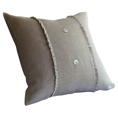 Irenee Linen Throw Pillow Color: Natural