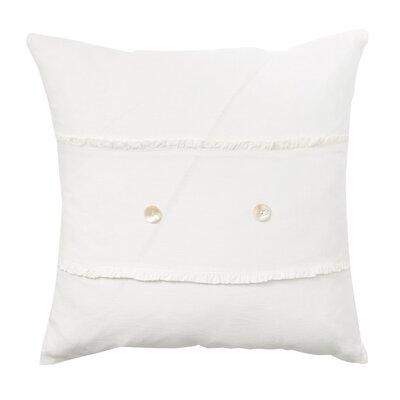 Irenee Linen Throw Pillow Color: Cream