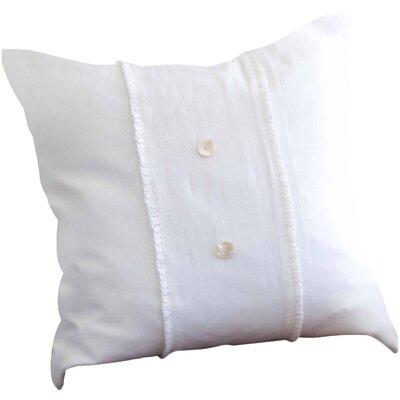 Irenee Linen Throw Pillow Color: White