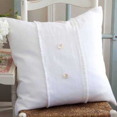 Irenee Linen Throw Pillow Color: White