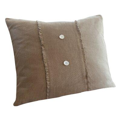 Irenee Linen Throw Pillow Color: Tobacco