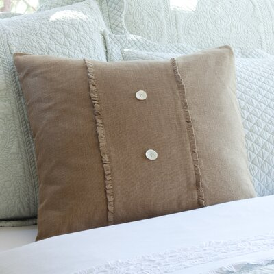 Irenee Linen Throw Pillow Color: Tobacco
