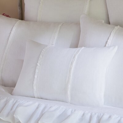 Irenee Linen Lumbar Pillow Color: White