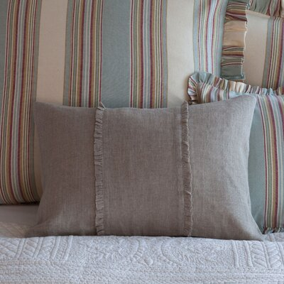 Irenee Linen Lumbar Pillow Color: Natural