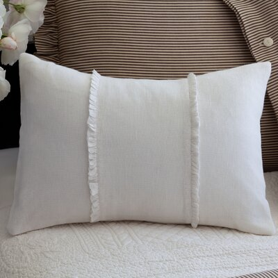 Irenee Linen Lumbar Pillow Color: Cream