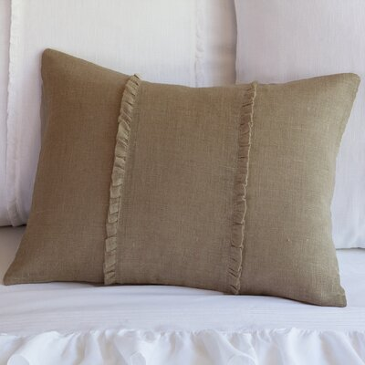 Irenee Linen Lumbar Pillow Color: Tobacco
