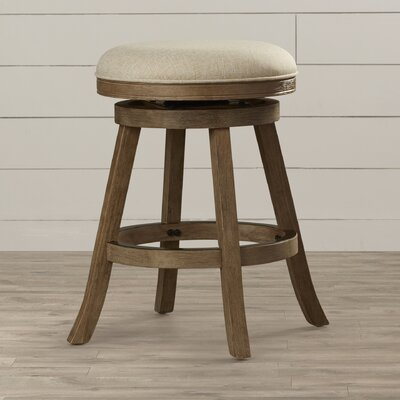 Deaux 24 Swivel Bar Stool Upholstery: Ivory