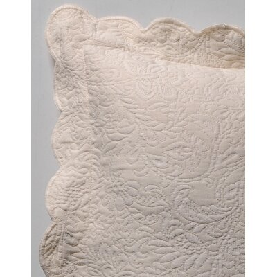 Levesque Butterfield Euro Sham Color: Butterfield Ecru